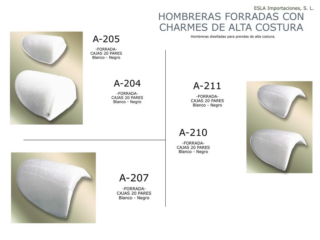 Hombrera forrada charmes alta costura A-205 , A-204 , A-211 , A-210 , A-207