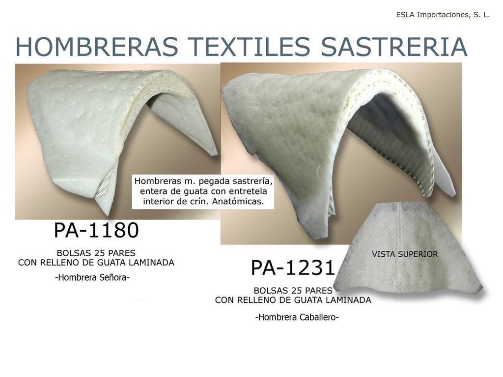 Hombrera textil PA-1180 y PA-1231