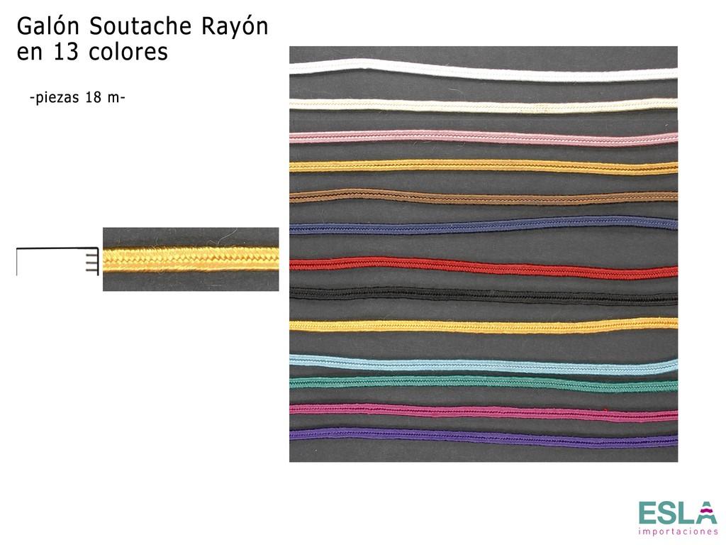 GALON SOUTACHE RAYON