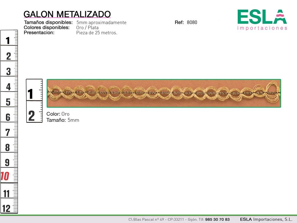 GALON METALIZADO 8080