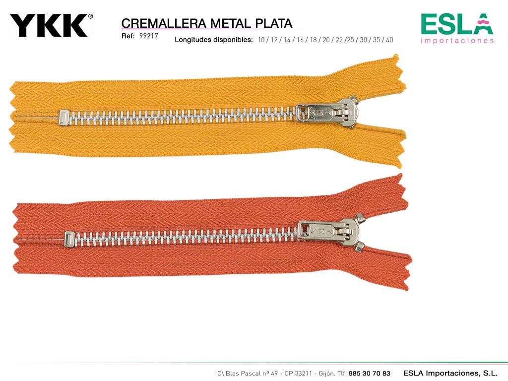 CREMALLERA METAL PLATA 99217
