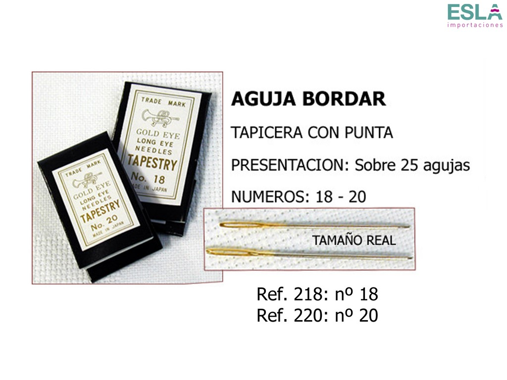 Agujas punta corneta 218 - 220