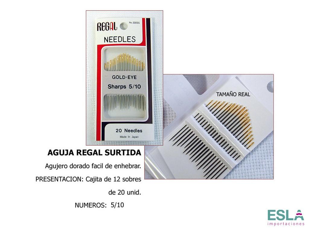 AGUJAS REGAL DE ZURCIR CORTAS SURTIDO