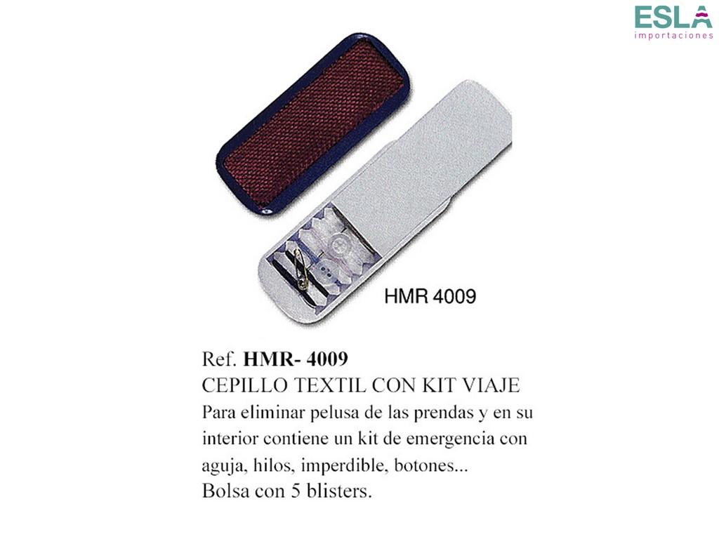 CEPILLO TEXTIL CON KIT DE VIAJE HMR-4009