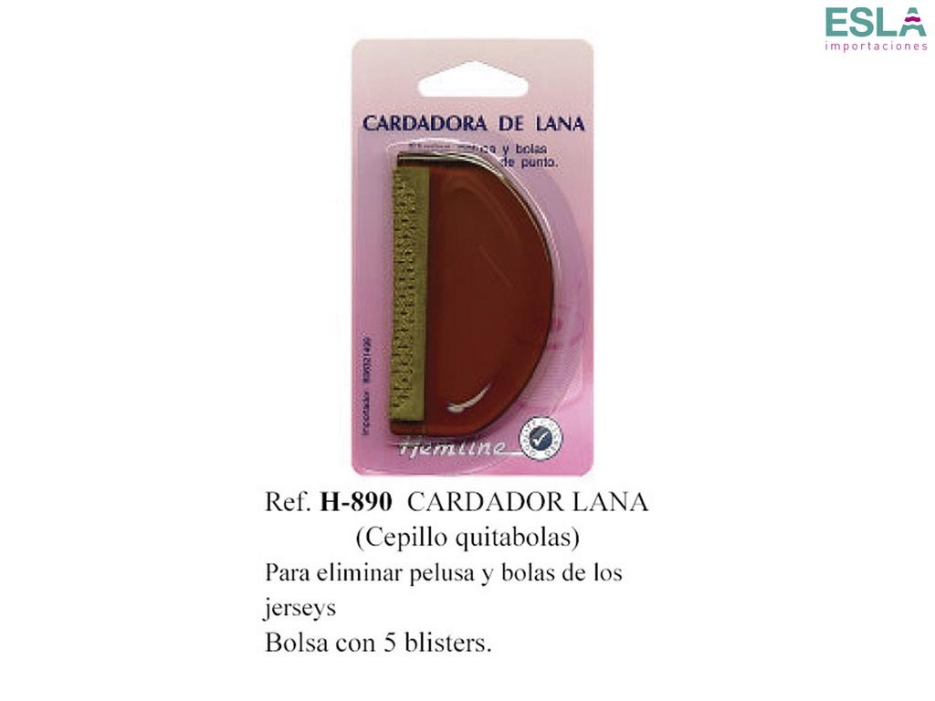 CARDADOR LANA H-890 CEPILLO QUITAPELUSAS