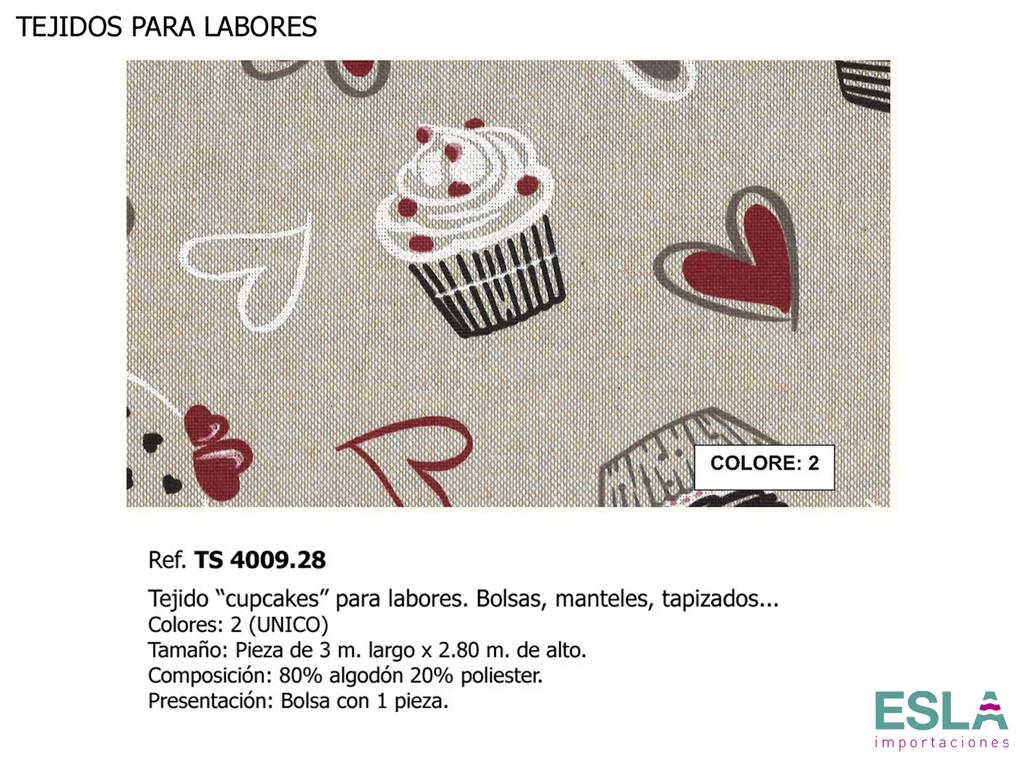 TEJIDO LABORES CUPCAKE TS4009.28