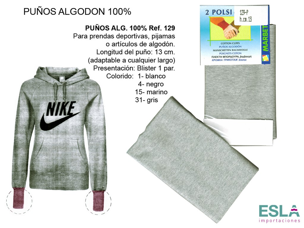 PUNOS ALGODON 129