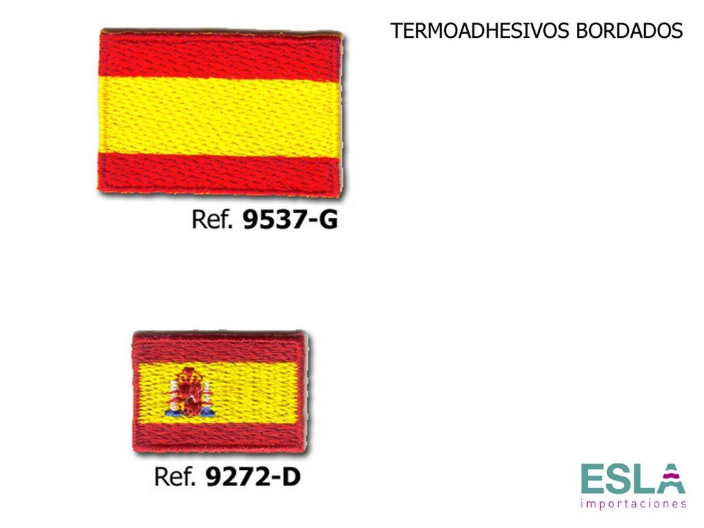 TERMOADHESIVO BORDADO BANDERA ESPANA 9272-D , 9537-G