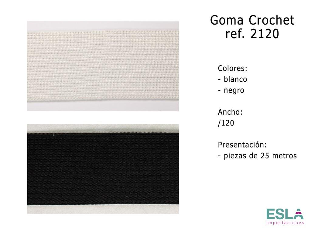 GOMA CROCHET 2120 BLANCO Y NEGRO