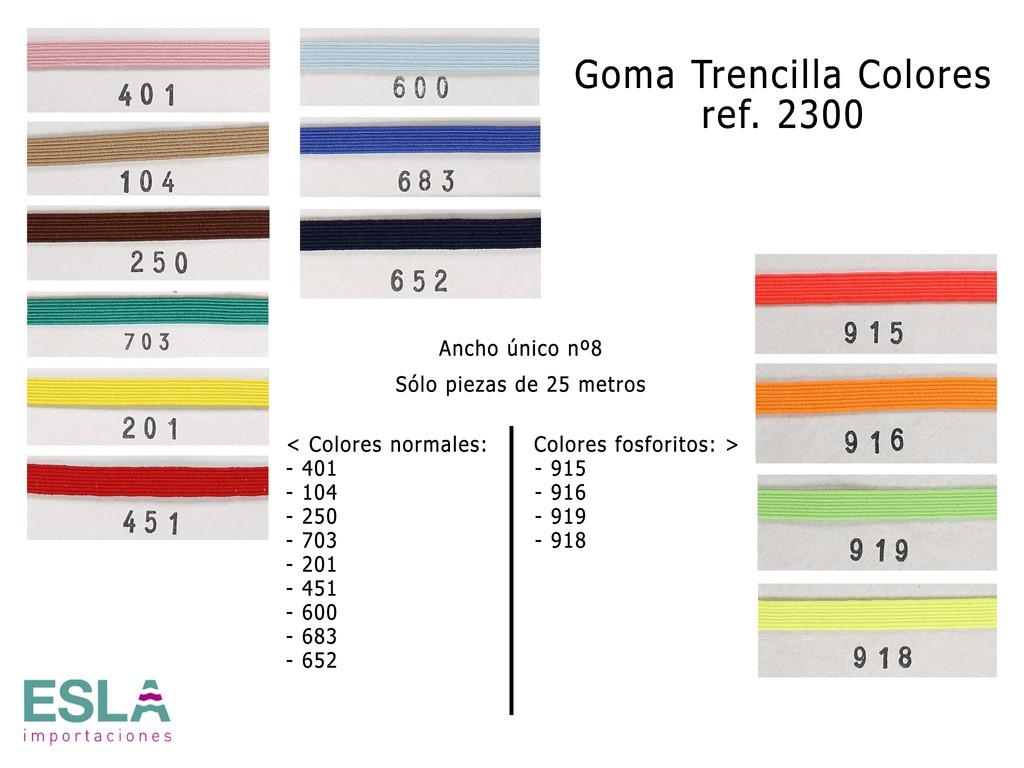 GOMA TRENCILLA 2300 COLORES