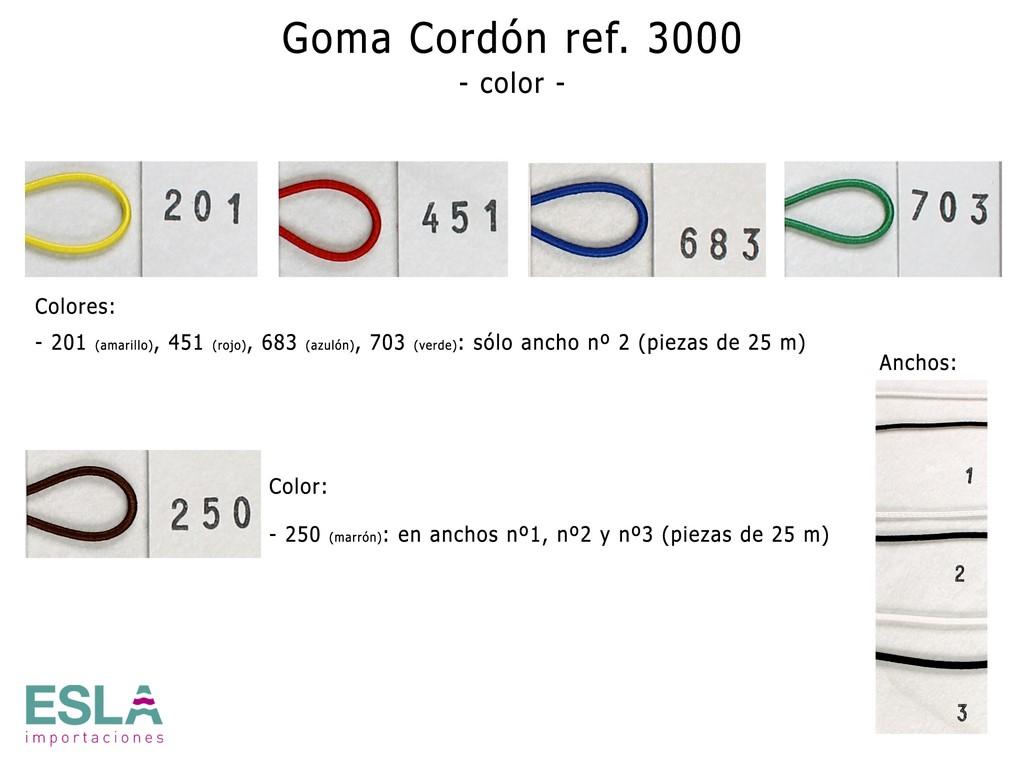 GOMA CORDON 3000 COLOR
