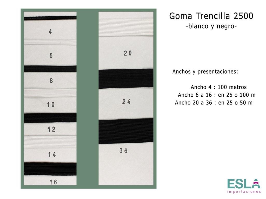 GOMA TRENCILLA 2500 BLANCO Y NEGRO