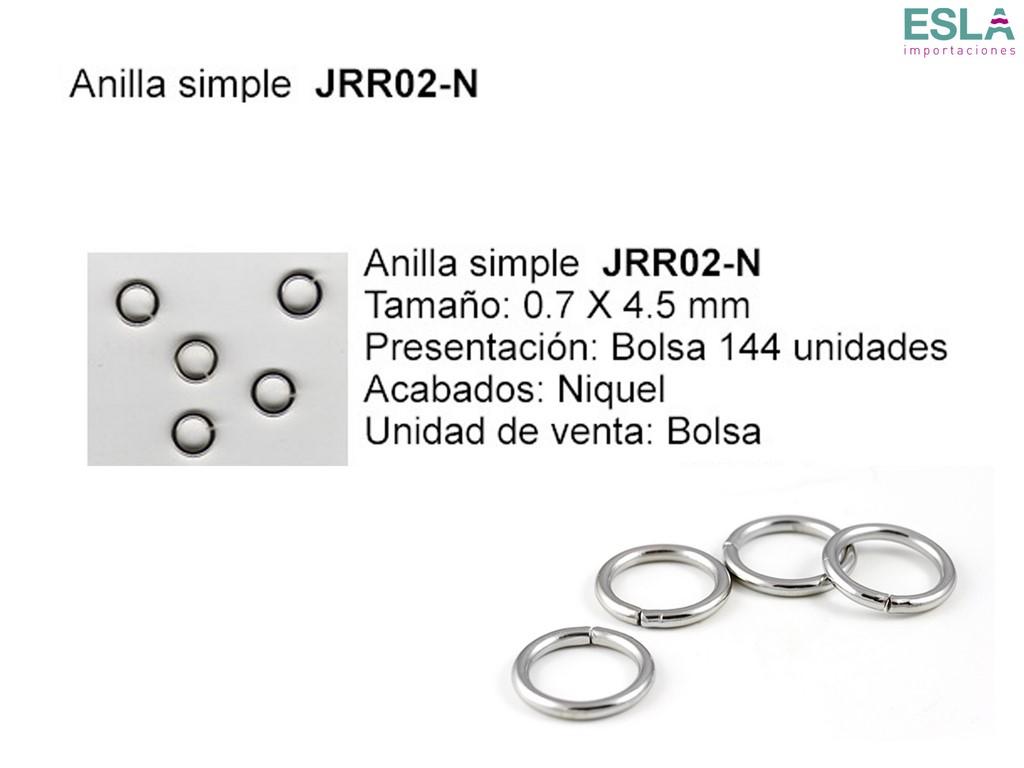 ANILLA SIMPLE JRR02-N