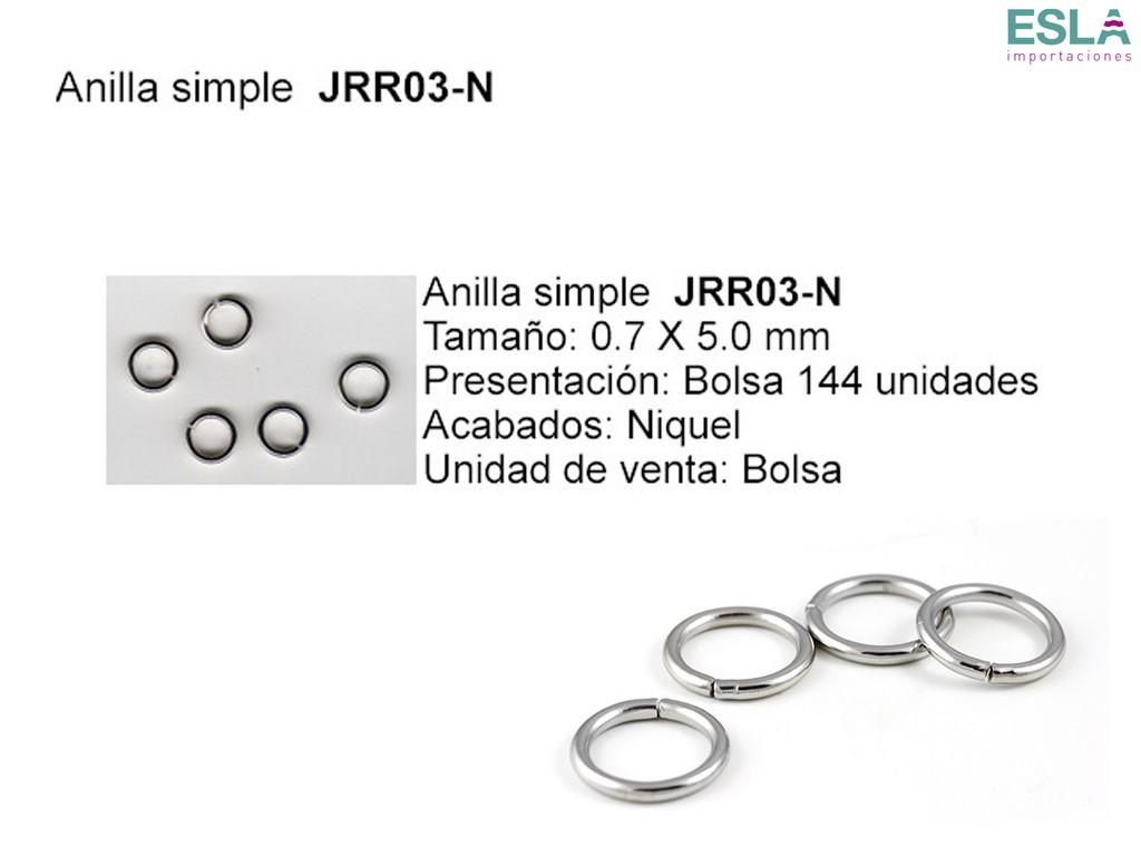 ANILLA SIMPLE JRR03-N