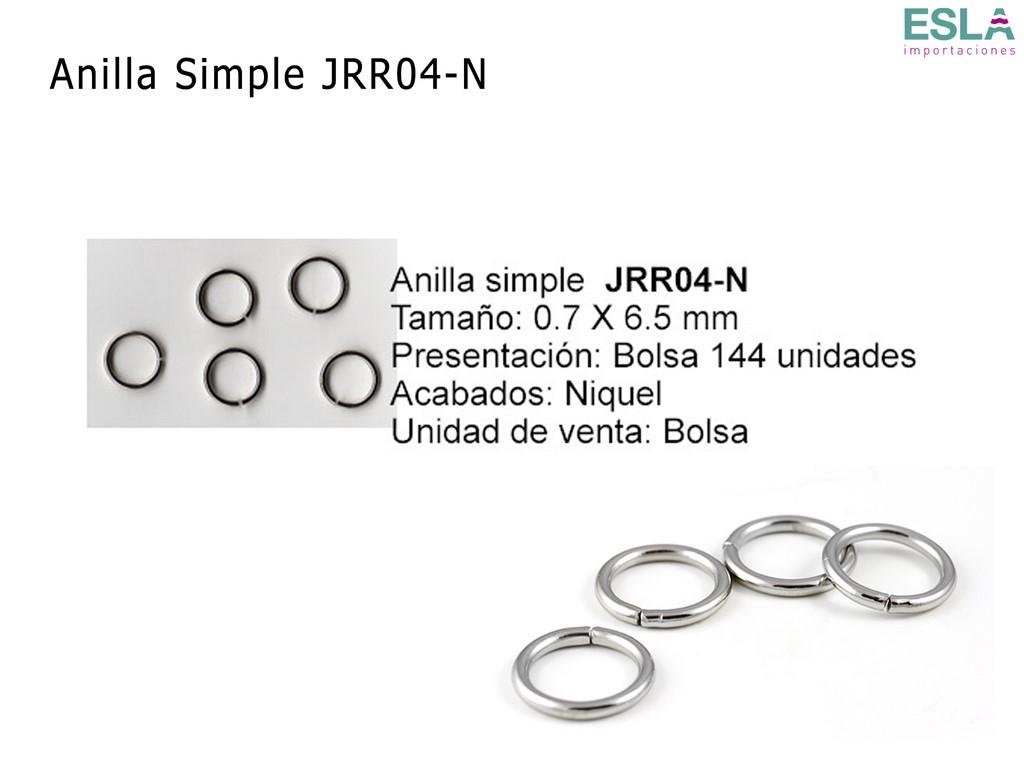 ANILLA SIMPLE JRR04-N