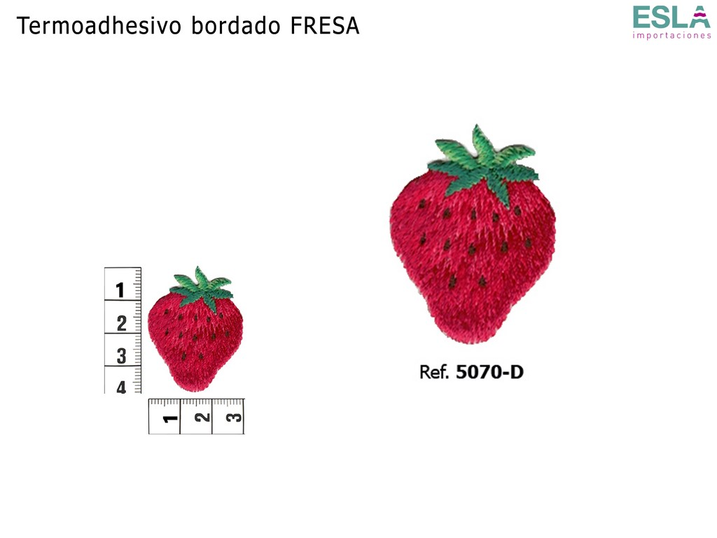 TERMOADHESIVO BORDADO FRESA 5070-D