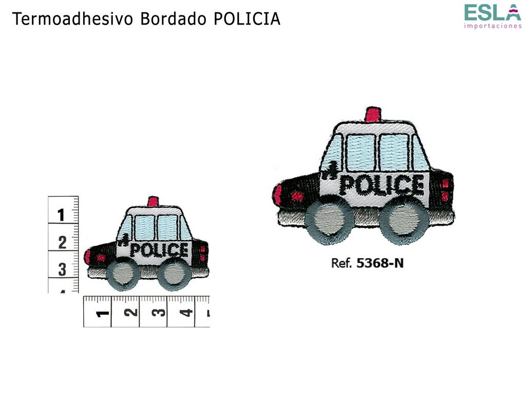 TERMOADHESIVO BORDADO COCHE DE POLICIA 5368-N