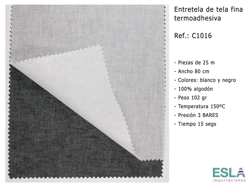 ENTRETELA TELA FINA TERMOADHESIVA C1016