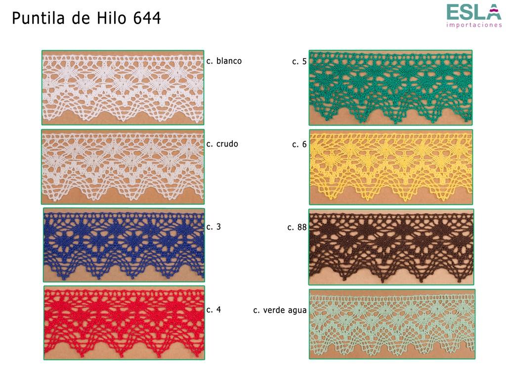 PUNTILLA HILO ALGODON 644