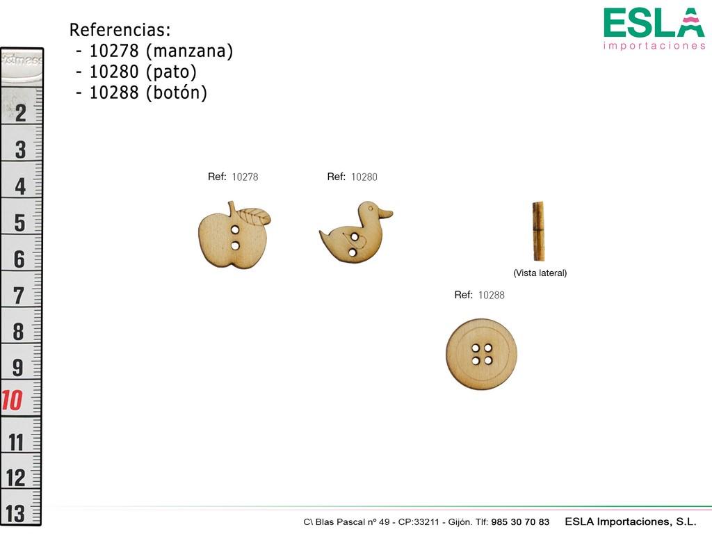BOTON MADERA 10278 - 10280 - 10288
