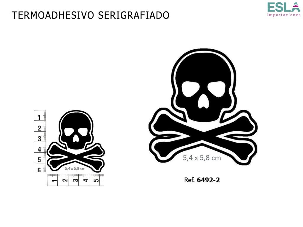 TERMOADHESIVO SERIGRAFIADO CALAVERA 6492-2