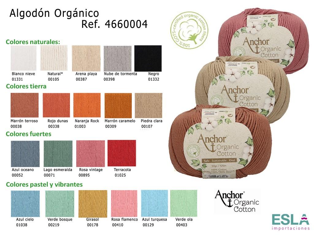 ALGODON ORGANICO PARA PUNTO Y CROCHET 4660004