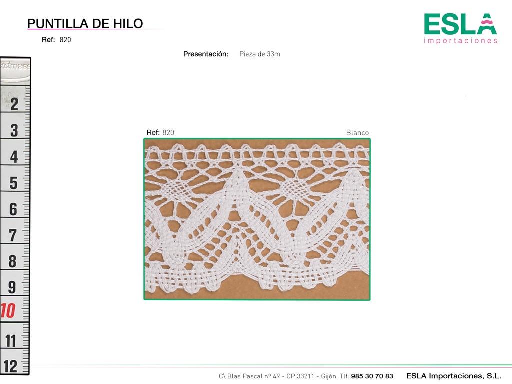 PUNTILLA HILO 820