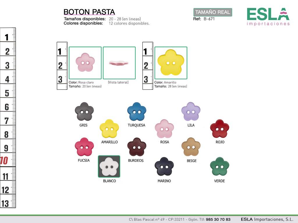 BOTON PASTA COLORES B-671