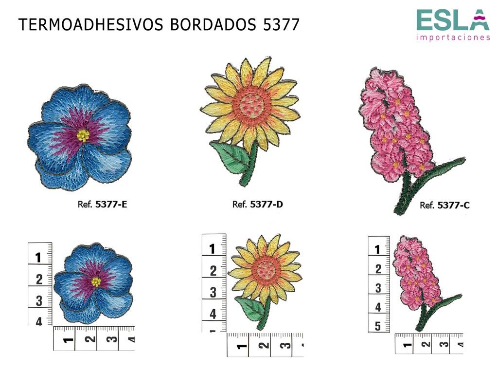 TERMOADHESIVOS BORDADOS FLORES 5377