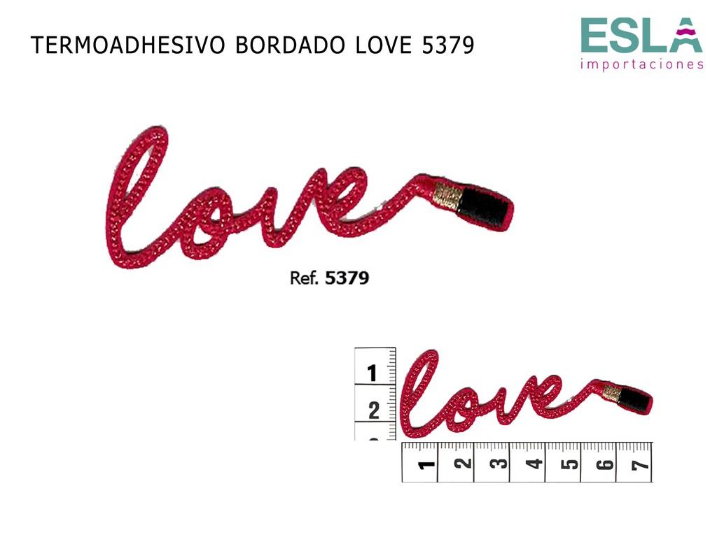 TERMOADHESIVO BORDADO LOVE 5379