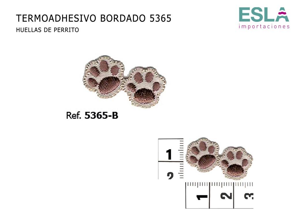 TERMOADHESIVO BORDADO HUELLAS 5365-B
