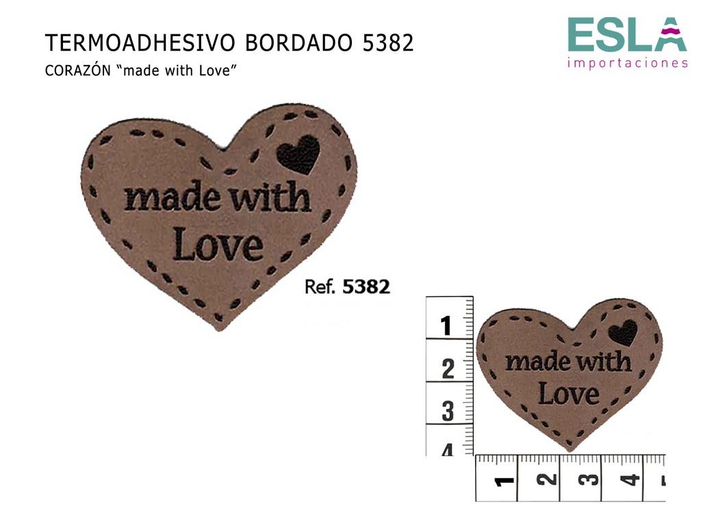 TERMOADHESIVO BORDADO MADE WITH LOVE 5382