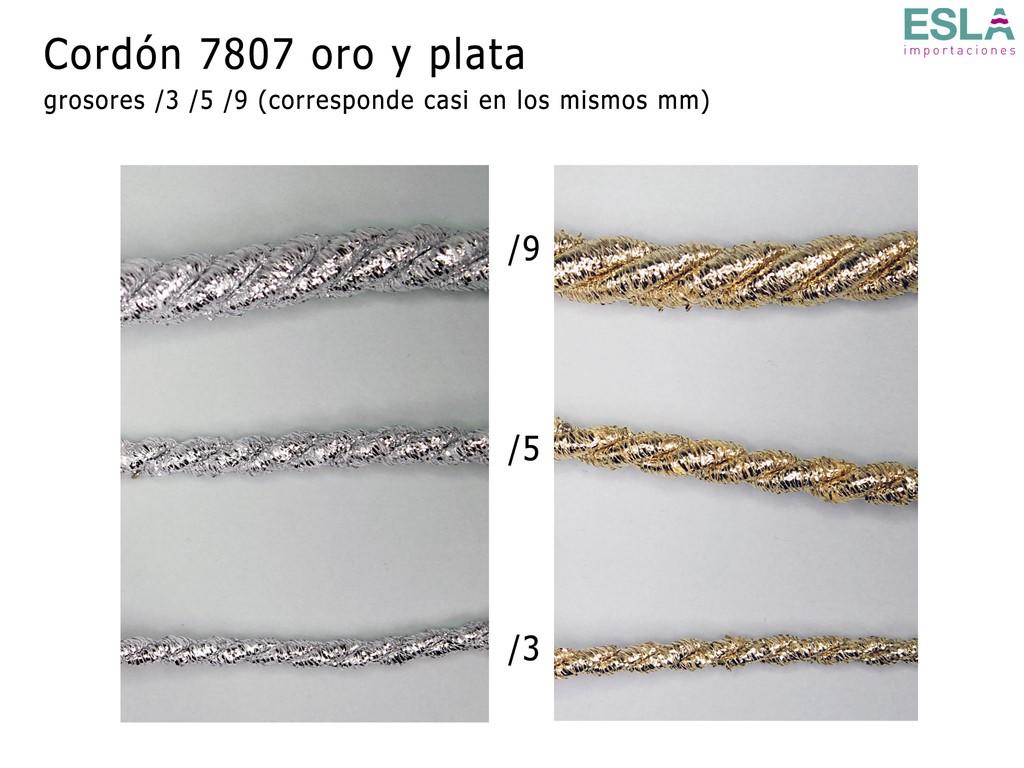 CORDON 7807 ORO PLATA