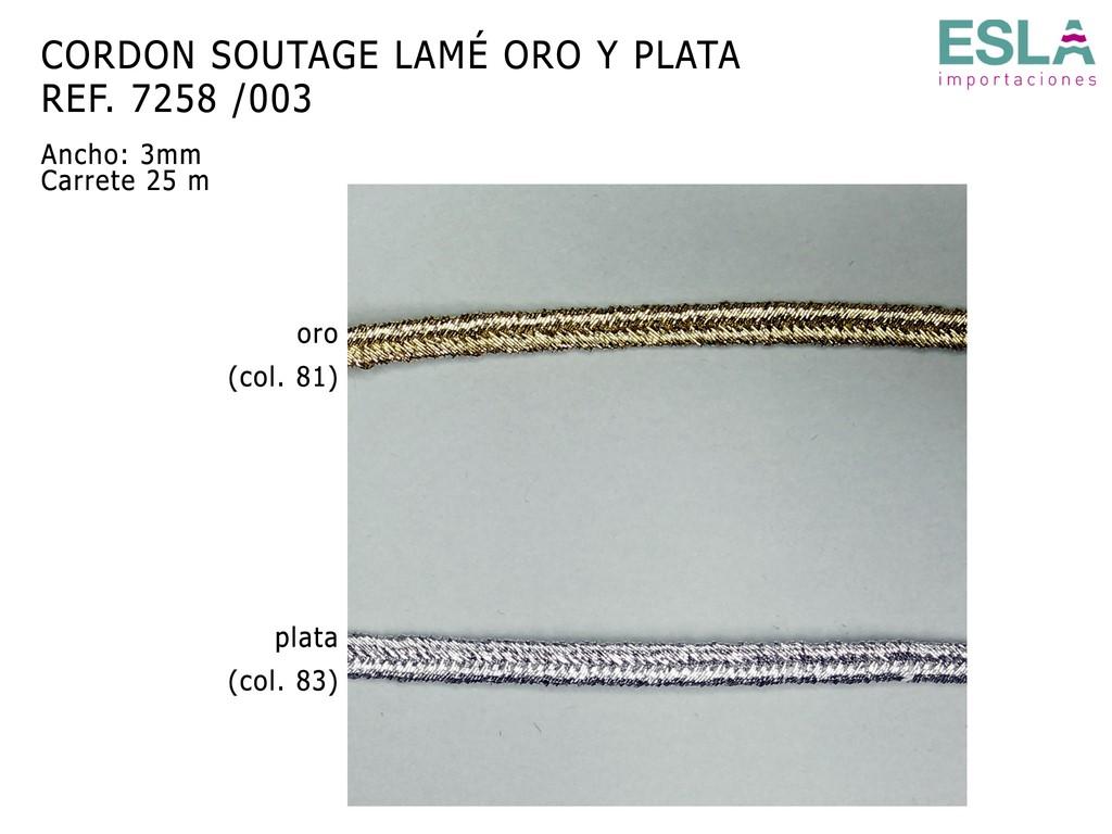 CORDON SOUTAGE LAME 7258 ORO PLATA