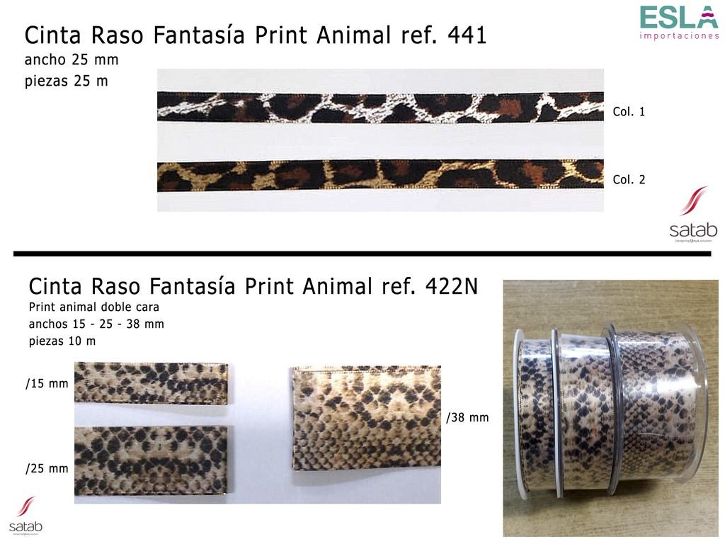 CINTA RASO ESTAMPADO ANIMAL 422N y 441