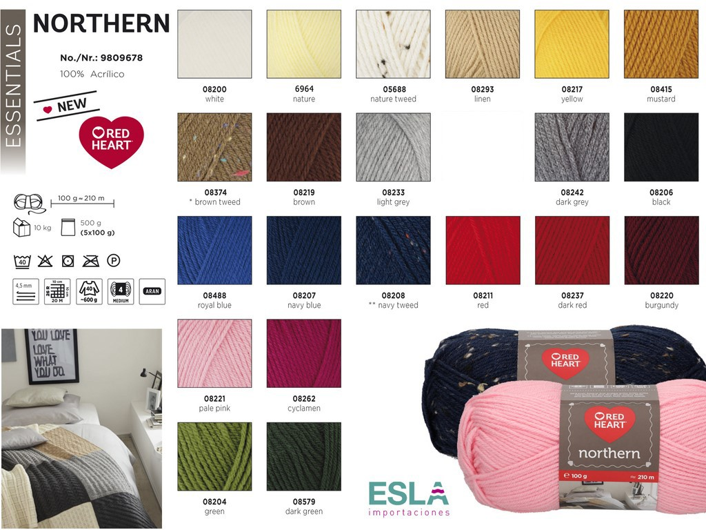 LANA NORTHERN RED HEART PRODUCTO