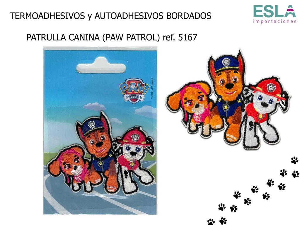TERMOADHESIVO BORDADO PATRULLA CANINA 5167