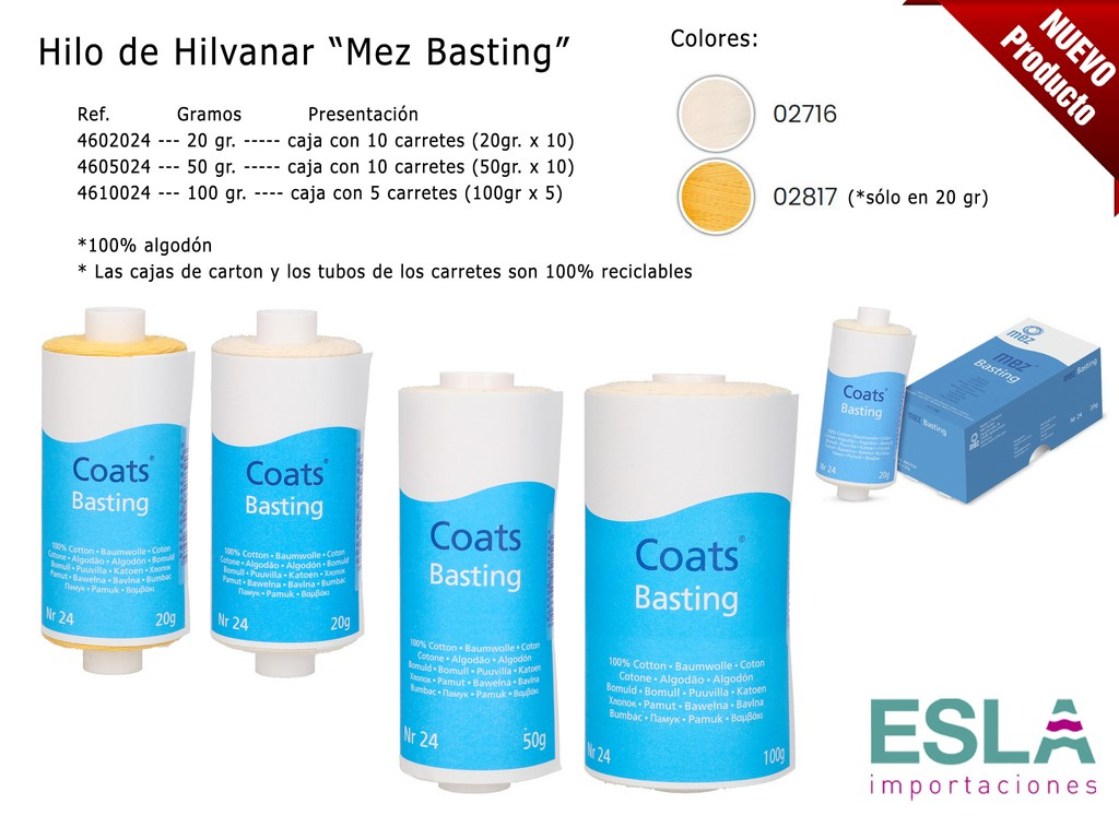 HILO HILVANAR COATS MEZ FABRA BASTING