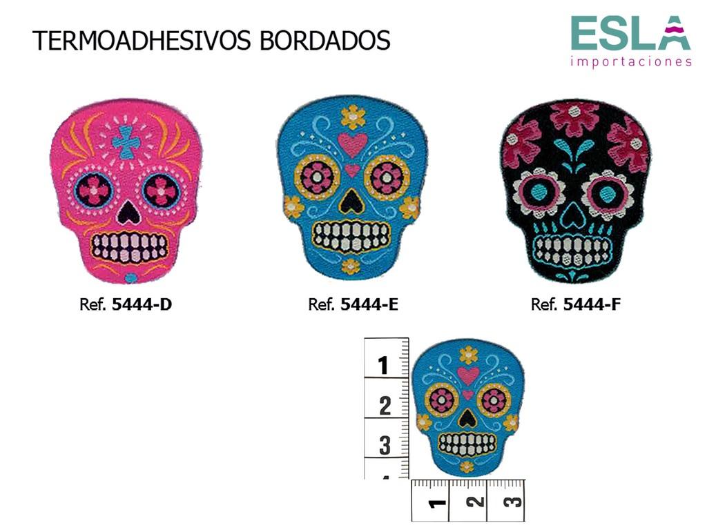 TERMOADHESIVO BORDADO CALAVERAS MEXICO 5444