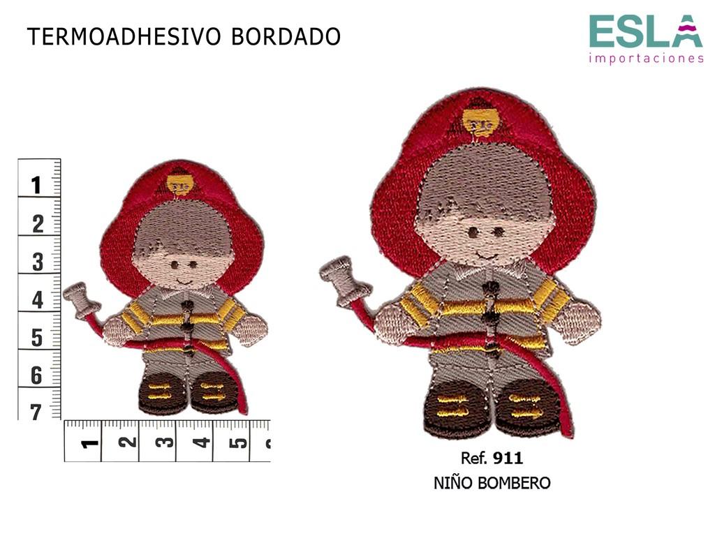 TERMOADHESIVO BORDADO BOMBERO 911
