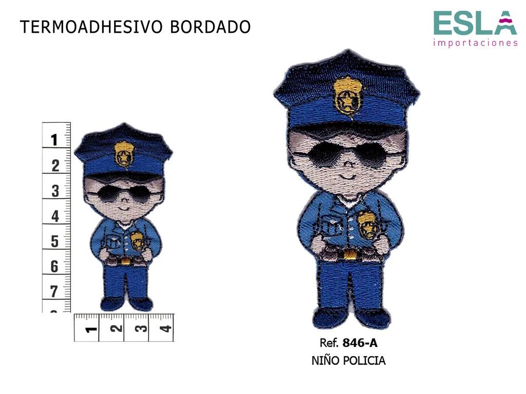TERMOADHESIVO BORDADO POLICIA 846-A